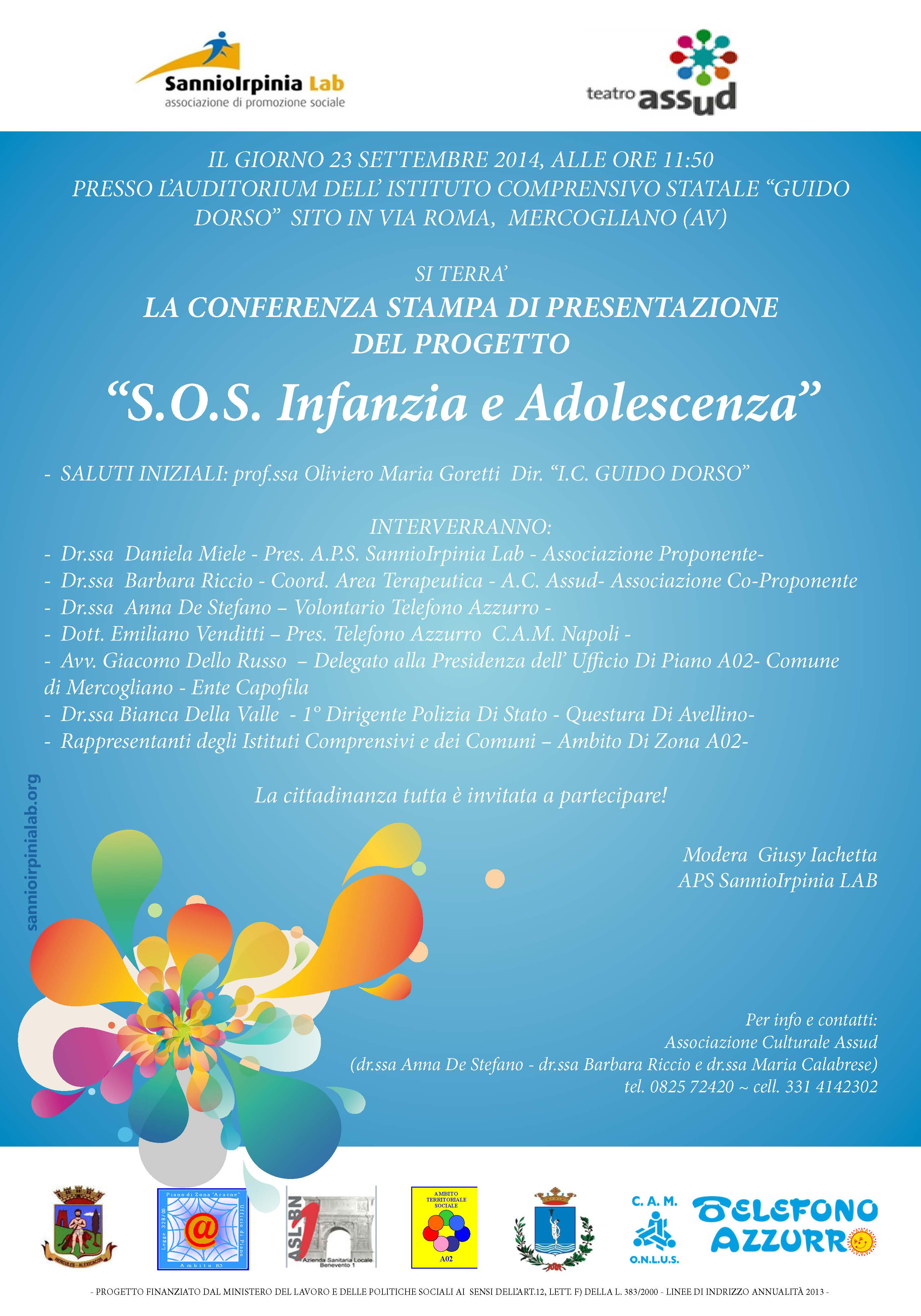 Progetto SOS Infanzia e Adolescenza
