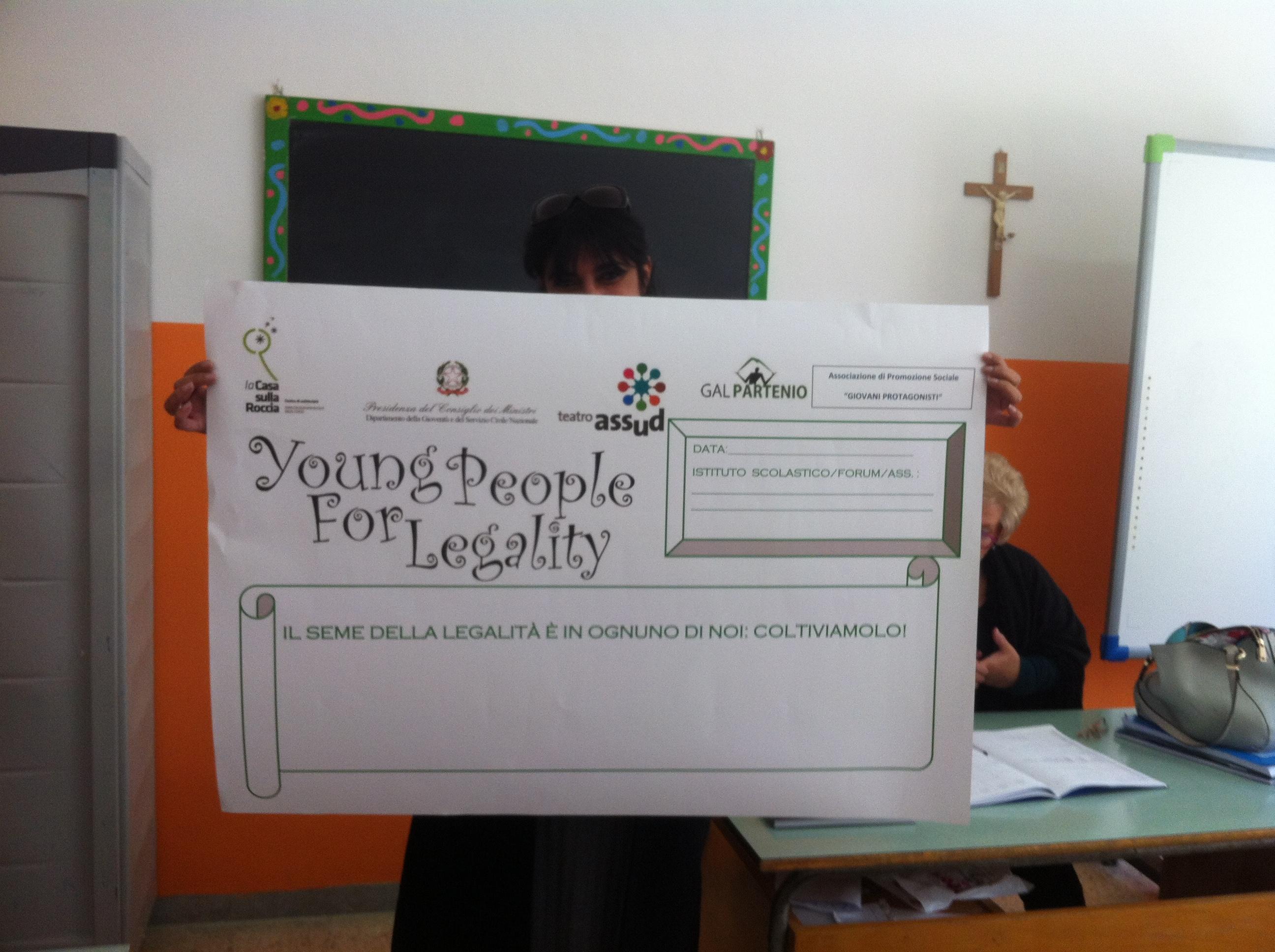 """Gal Partenio e Casa sulla Roccia presentano """"Young people for legality"""""""